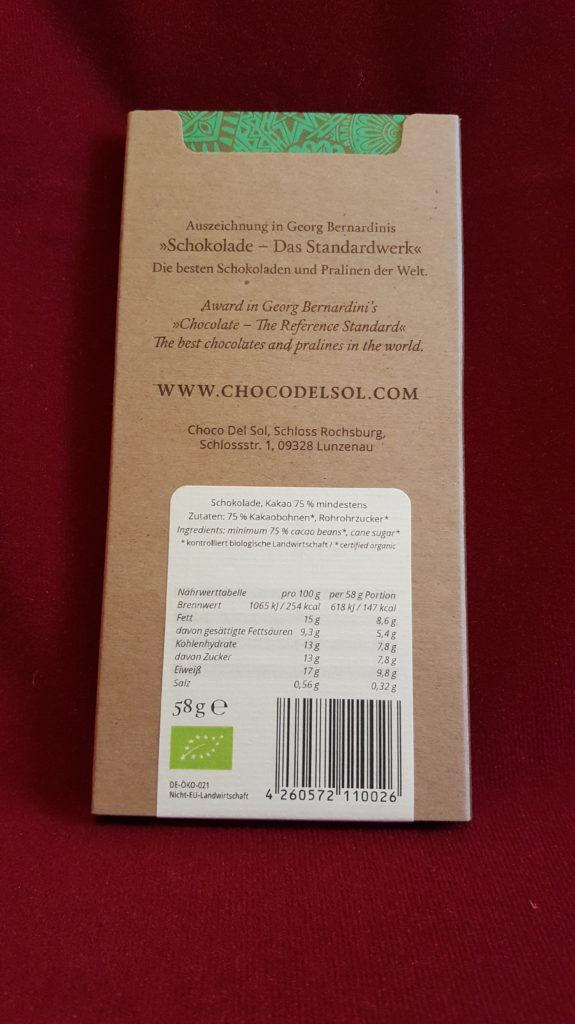 Hauptbild: Vegane Bio Schokolade – Pure 75